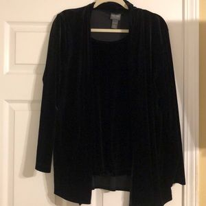 2 Piece Chicos's Velveteen Shell and Jacket